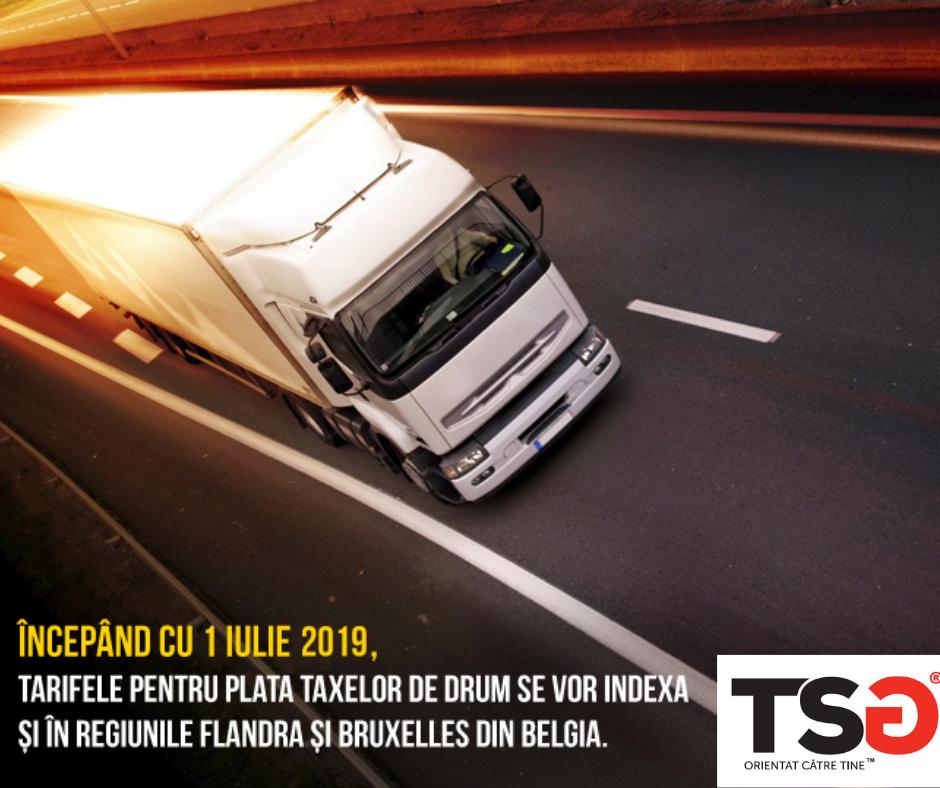 2019.06 Modificarea tarifelor pentru plata taxelor de drum in Belgia