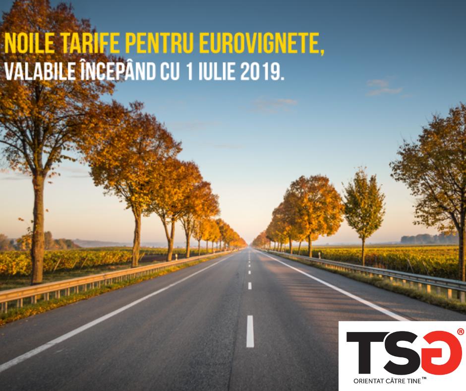2019.05 Noile tarife pentru eurovignete valabile incepand cu 1 iulie 2019